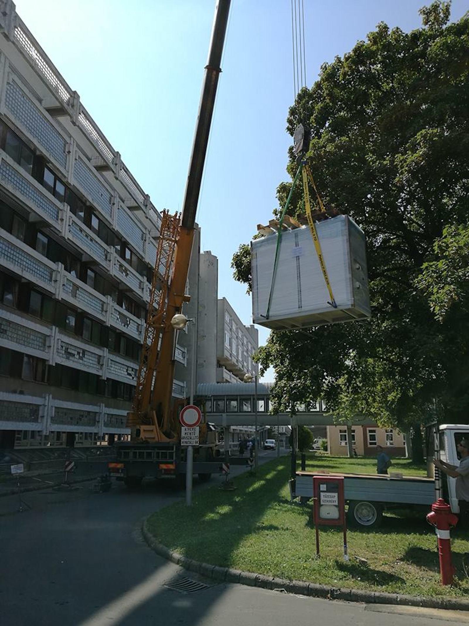 Keszthelyi kórház légkezelő telepítés